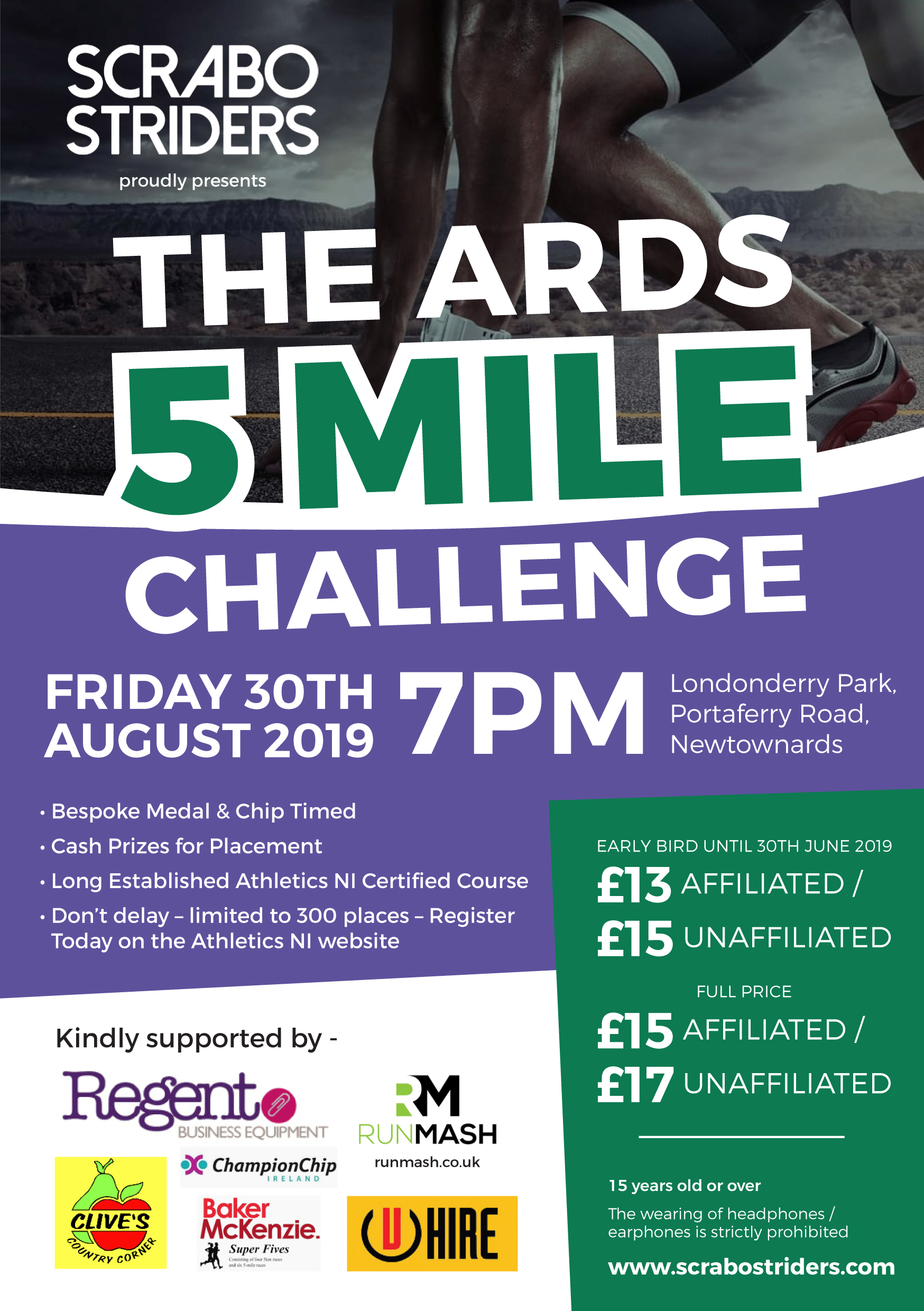 Scrabo Striders running club are very pleased to announce that this long-established race will return on Friday 30th August at 7pm.