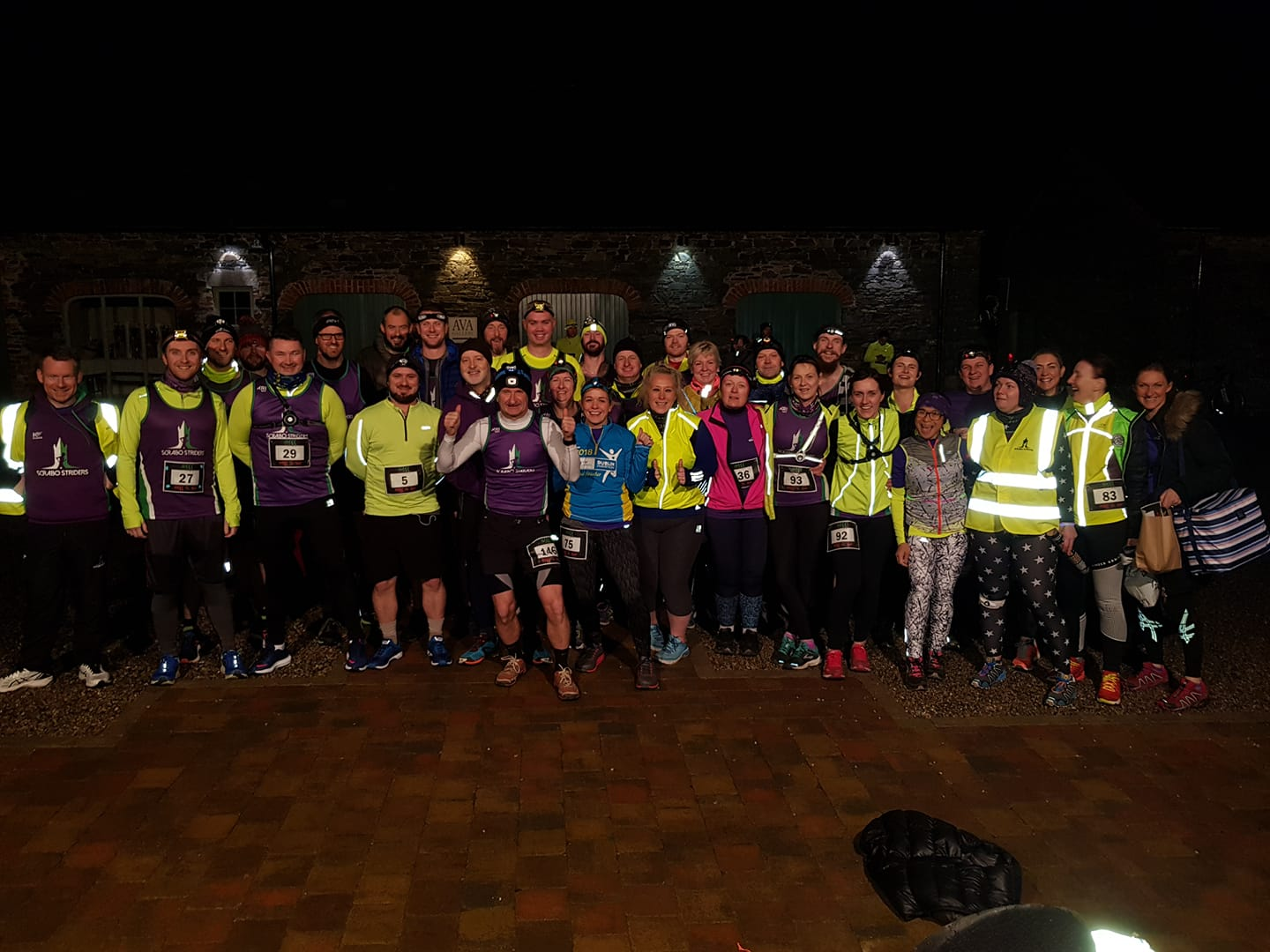 Scrabo Striders don't Fearr The Night, Podium for Ricky and Catherine. Cross country success for Norman.
