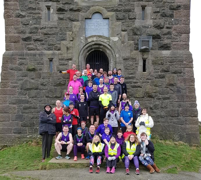 "Scrabo Striders Running Club held their annual ""Race to the Tower"" on Sunday 3rd March. Who is the mystery man?"