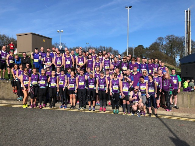 Larne turns purple as Striders achieve half marathon bests.