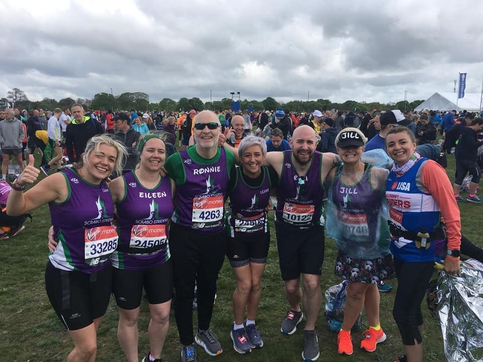 Ten Scrabo Striders did the Club proud in London.