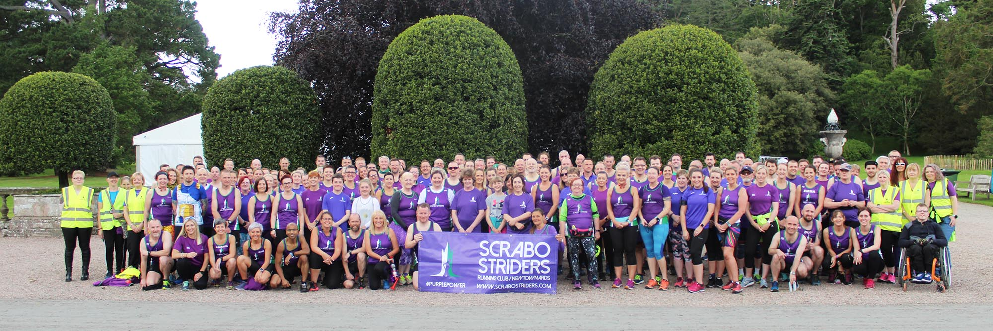 Scrabo Striders Running Club marked their 3rd anniversary with a private race in the beautiful grounds of Mount Stewart.