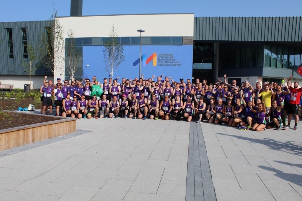 99 Striders took on the Ards Half, great turnout.